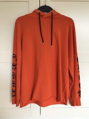 H&M Hooded Sweater neon orange-black