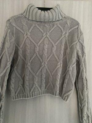 Hollister Pull en crochet gris clair
