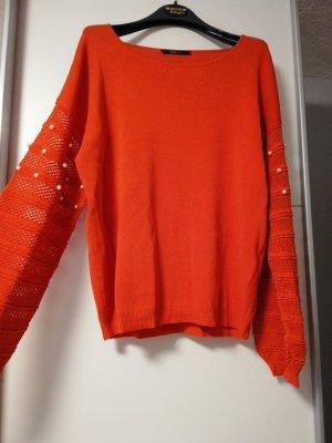 Gr8ful Swetrowa sukienka pomarańczowy neonowy