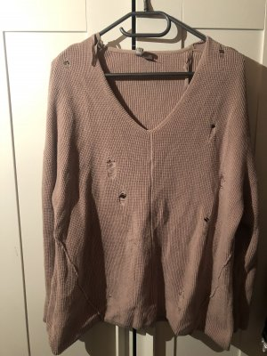 H&M Divided Crochet Sweater rose-gold-coloured