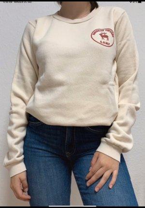 American Vintage Crewneck Sweater natural white-brick red