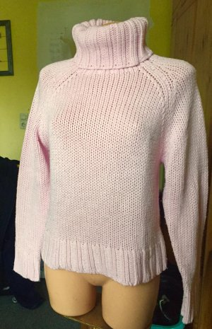 Clockhouse Coarse Knitted Sweater light pink