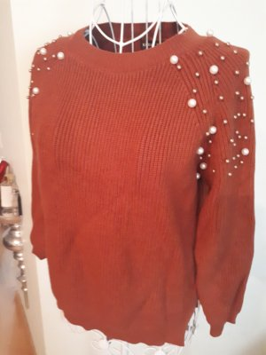 SheIn Crewneck Sweater brown