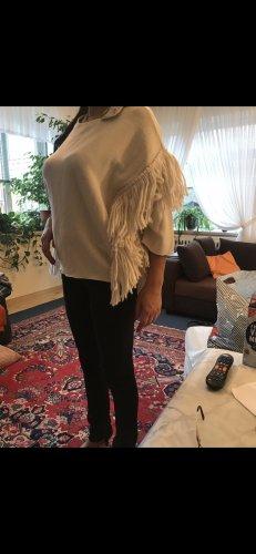 Maglione a maniche corte crema