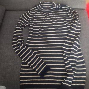 Colloseum Sweter bez rękawów z cienkiej dzianiny biały-czarny