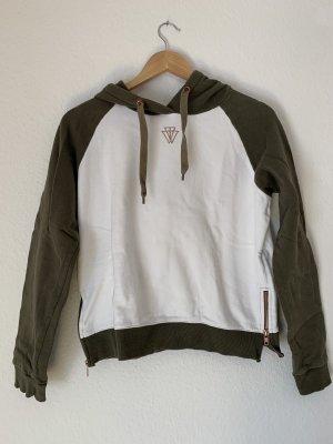 Tally Weijl Hooded Sweatshirt khaki-white