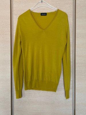 John Smedley Long Sweater lime yellow-yellow