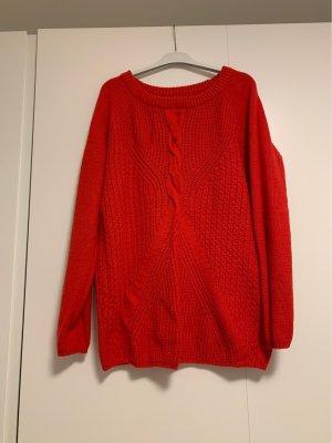 H&M Gehaakte trui rood