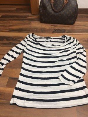 Mango Camiseta Básico negro-blanco