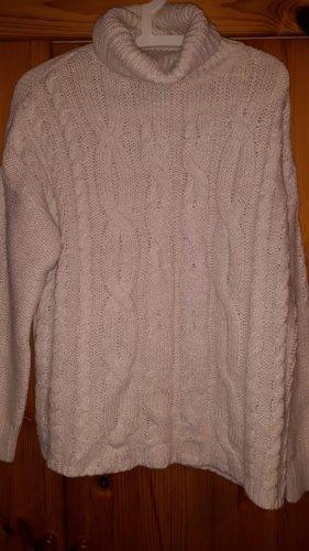 Primark Warkoczowy sweter w kolorze białej wełny
