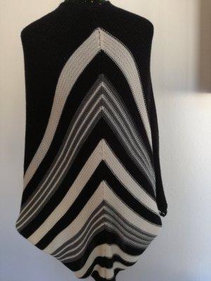 Pull long blanc-noir