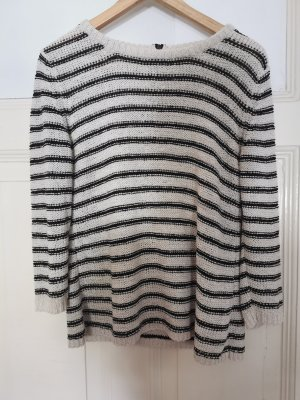 Sfera Knitted Sweater black-natural white