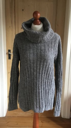 Esprit Jersey de cuello alto gris mohair