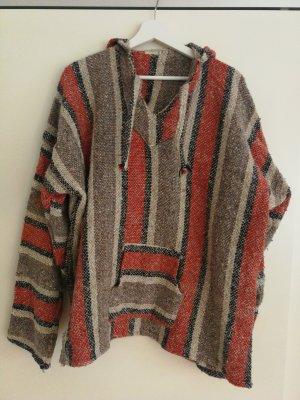 Capuchon sweater grijs-bruin