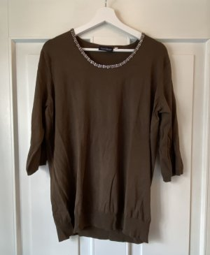 Crochet Sweater dark brown