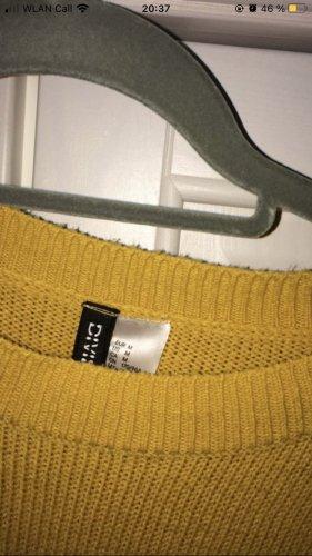 H&M Divided Fine Knit Jumper gold orange
