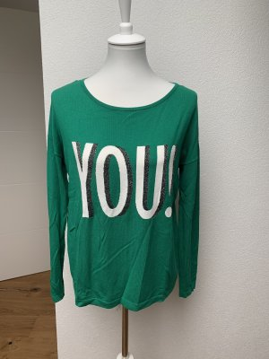 Comma Fine Knit Jumper green-silver-colored