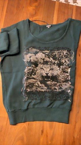 Sweatshirt gris vert