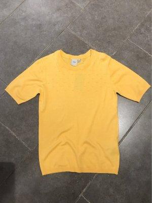 Ichi Short Sleeve Sweater yellow