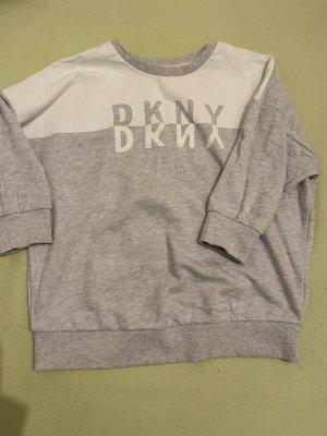 DKNY Sweter z krótkim rękawem jasnoszary-biały