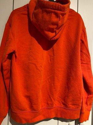 H&M Sweter z kapturem pomarańczowy neonowy