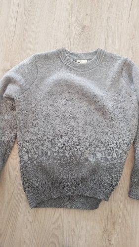 H&M Szydełkowany sweter jasnoszary