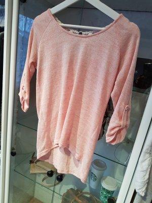 Jersey de ganchillo rosa