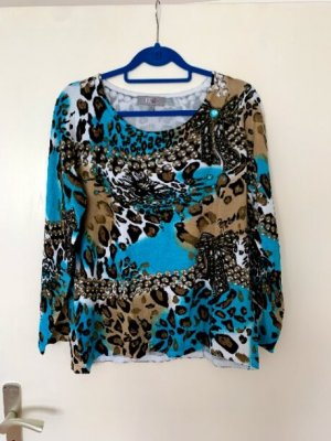 ART & COLOUR Kraagloze sweater veelkleurig