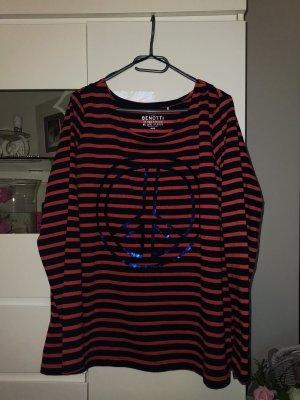 Gina Benotti Gebreid shirt roodbruin