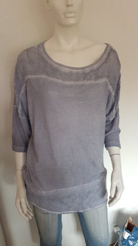 Laura Torelli Long Sweater slate-gray-pale blue