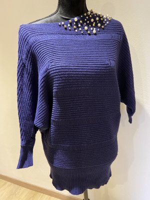 Guess Coarse Knitted Sweater dark blue