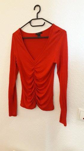 Amisu Maglia con scollo a cappuccio rosso
