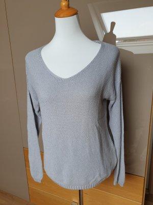 Yessica Maglione lavorato a maglia grigio chiaro-grigio