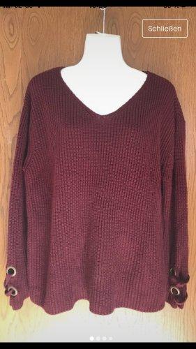 Active USA Pull tricoté bordeau