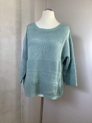 Pull oversize turquoise coton