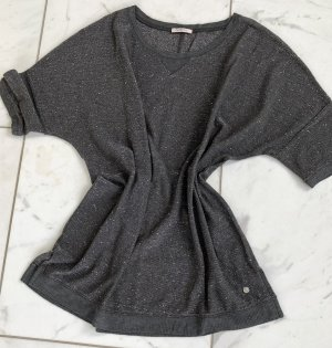 Sweter z krótkim rękawem antracyt Poliester