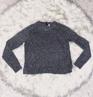 Pulli in grau weiß gr. 34/36