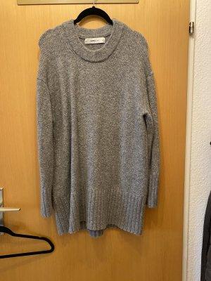 Zara Swetrowa sukienka szary-jasnoszary