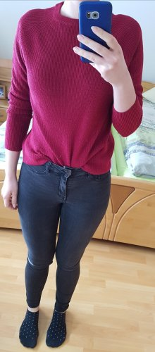 Mango Knitted Sweater raspberry-red