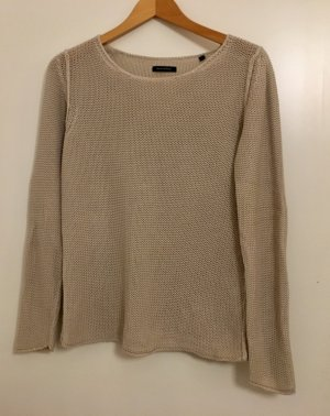 Marco Polo Crochet Sweater oatmeal