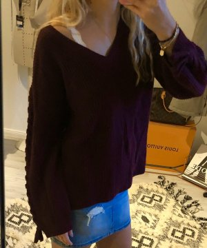 American Eagle Outfitters Oversized Sweater bordeaux