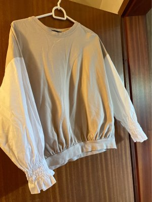 new collection Crewneck Sweater beige-white