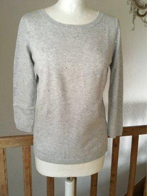 Repeat Maglione girocollo grigio chiaro Cotone
