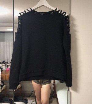 Amisu Długi sweter czarny