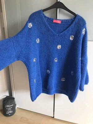 Oversized Sweater blue wool