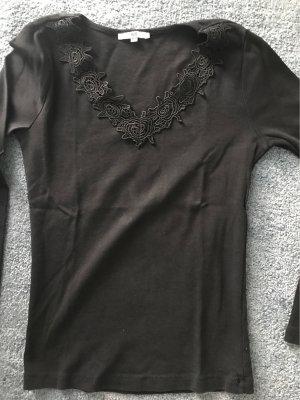 AJC Sweter z dekoltem w kształcie litery V czarny