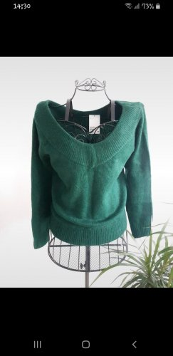 H&M V-Neck Sweater green-forest green