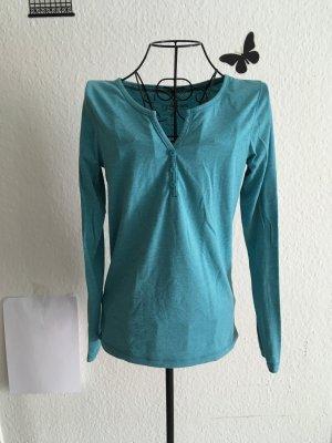 Colors of the world Maglione con scollo a V blu cadetto