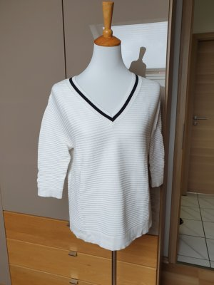 Comma V-Neck Sweater white-black