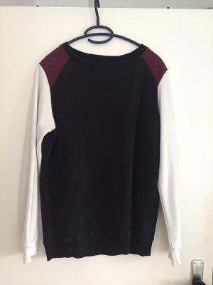 Ann Christine Kraagloze sweater veelkleurig